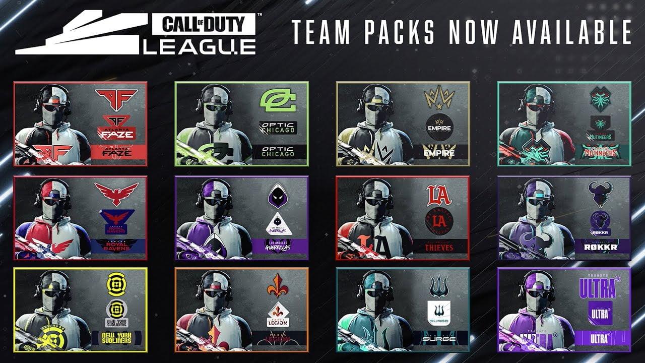 Call of Duty League Team Packs